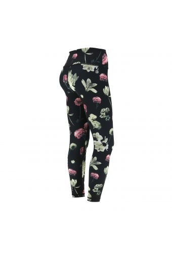Breathable high waist SuperFit leggings with a floral print
