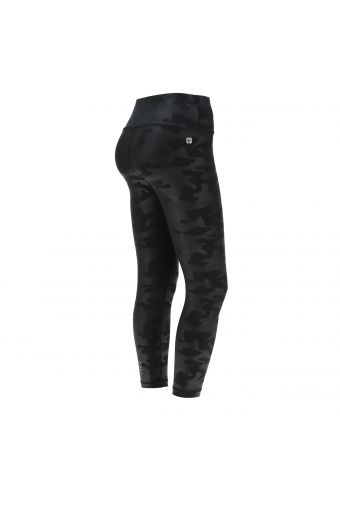 Breathable high-waist ankle-length SuperFit leggings with a camouflage print