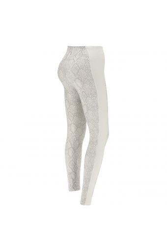 Animal print recycled fabric leggings - 100% Made in Italy
