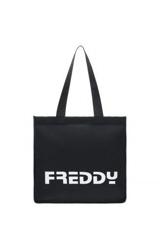 Black rectangular shopper with a maxi FREDDY print