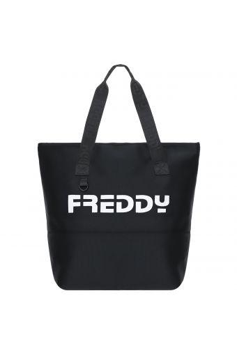 Black shopper with a maxi FREDDY print