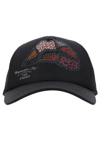 Sequin lips baseball cap - Romero Britto Collection
