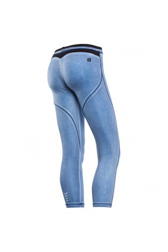 WR.UP® SHAPING EFFECT - Low Waist – 7/8 - technical fabric - faded, cool-dyed