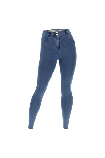 Shaping curvy-fit WR.UP® jeggings in light denim