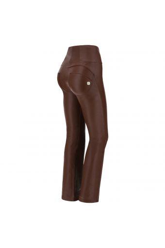 Pantalon push-up WR.UP® en simili cuir à rayures style années 70