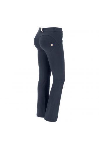 Pantalon push up WR.UP® en coton, coupe skinny à pattes d'éléphant