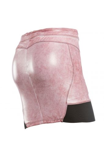 Coated marble-effect sculpting WR.UP® miniskirt