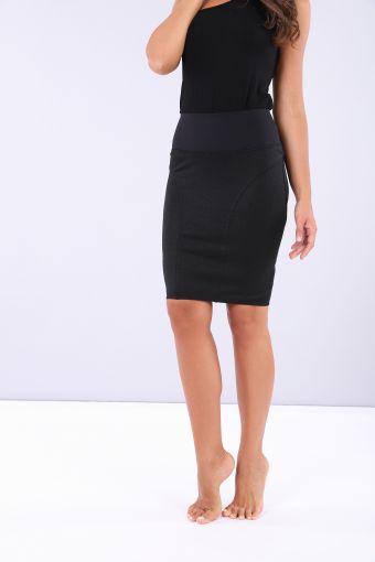 Ankle-length curve-hugging Lurex WR.UP® skirt