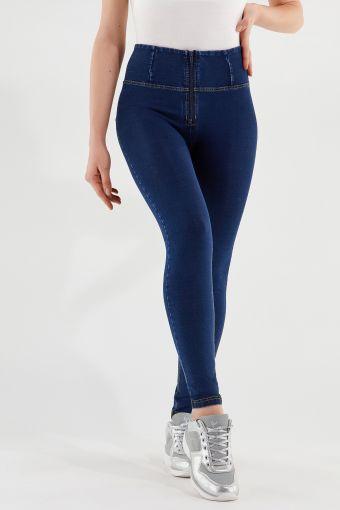 Pantalon WR.UP® skinny taille haute longueur classique en denim élastique