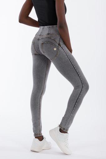 Pantalon WR.UP® long skinny taille haute, effet denim