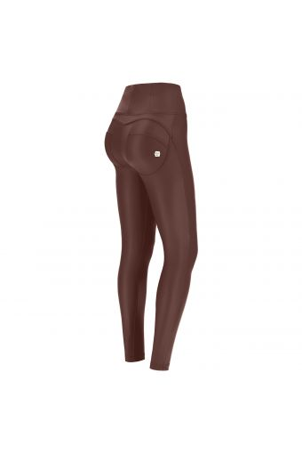 High waist skinny WR.UP® shaping trousers in faux leather  – Special Edition