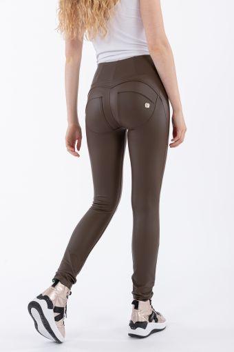 Pantalon push up WR.UP ® en simili cuir taille haute skinny