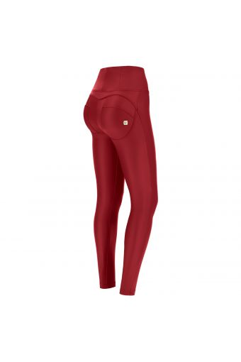 High waist skinny WR.UP® shaping trousers in faux leather