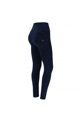 High-waisted denim-effect WR.UP® jeggings with micro studs
