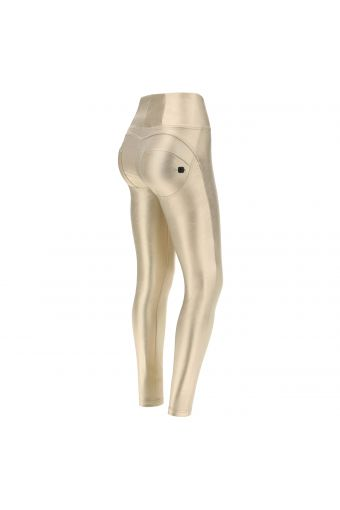 High waist WR.UP® shaping trousers in coated performance fabric