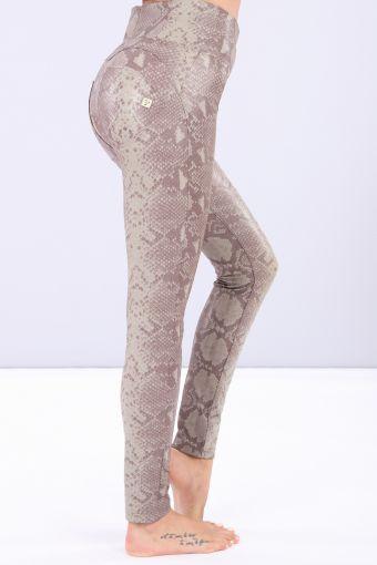 Burgundy faux snake skin WR.UP® skinny trousers