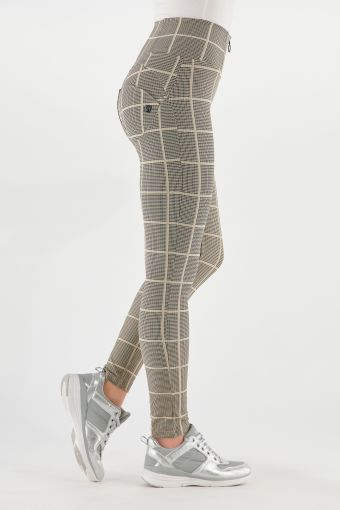 High-waisted WR.UP® shaping trousers in glen plaid fabric