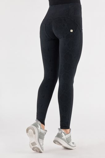 High-waist snake print WR.UP® shaping trousers