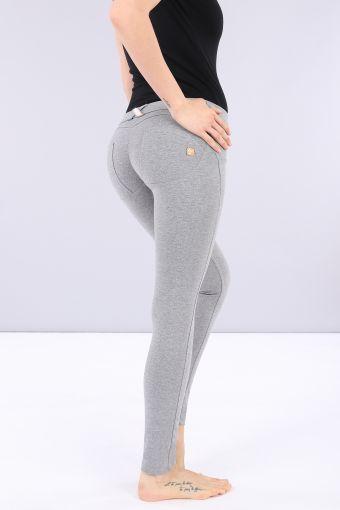 Pantalón WR.UP® pitillo de talle bajo y largo estándar de algodón elástico