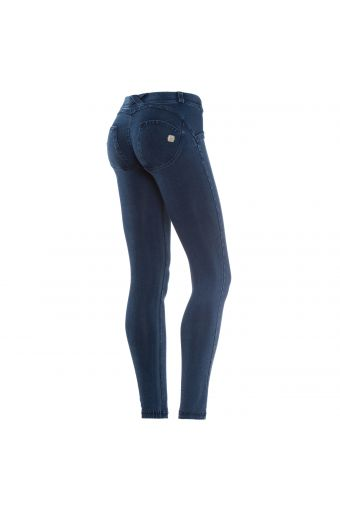 WR.UP® SHAPING EFFECT - Taille Basse - SKINNY - Effet jean lavage obscur