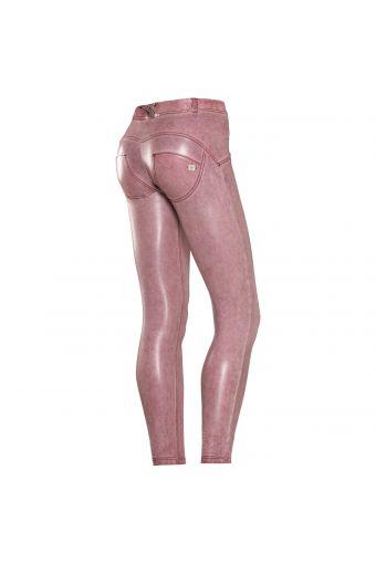 WR.UP® SHAPING EFFECT - Taille basse - SKINNY - effet cuir enduit grâce à une double teinture