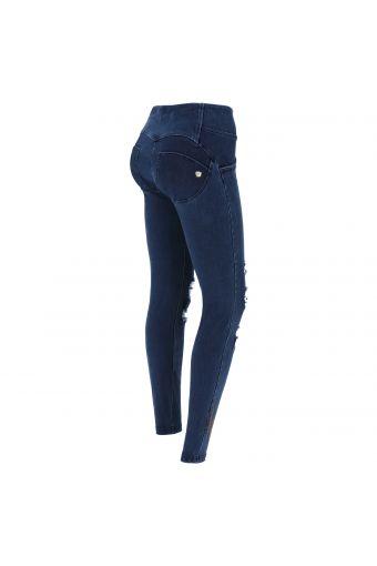 Jeans WR.UP® avec déchirures et cœur ailé - Collection Romero Britto