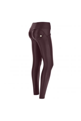 Medium-waisted sculpting WR.UP® faux-leather skinny trousers – Special Edition