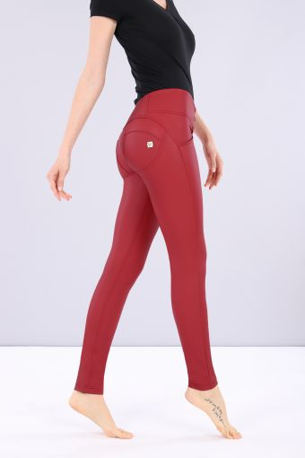 WR.UP® mid-rise skinny trousers in faux leather