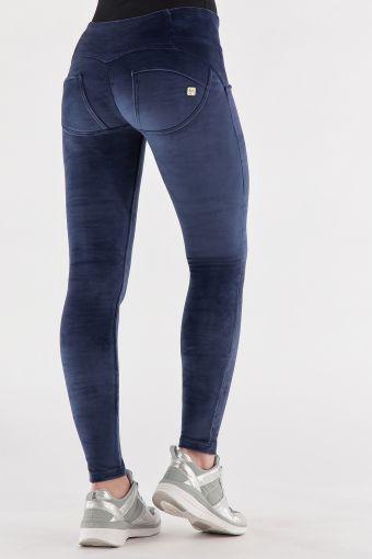 Pantalon push up WR.UP ® skinny, taille moyenne, en chenille