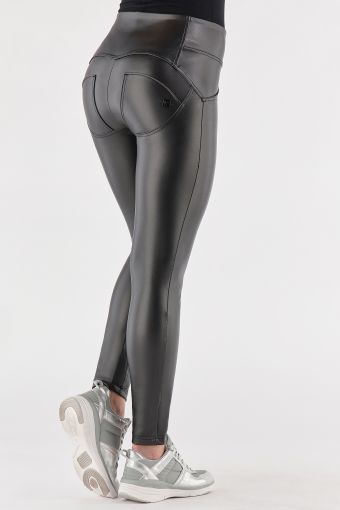 Metallic medium-waisted WR.UP® shaping trousers