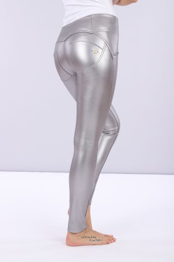 Women's WR.UP® skinny trousers made from opaque metalized faux leather