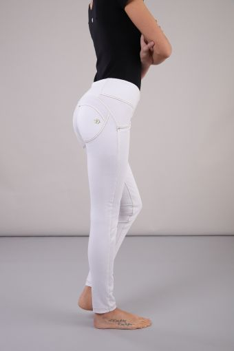 WR.UP® long, coupe skinny et taille moyenne en coton élastique