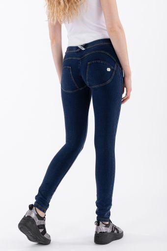 Pantalon WR.UP® skinny taille et longueur classiques en denim foncé