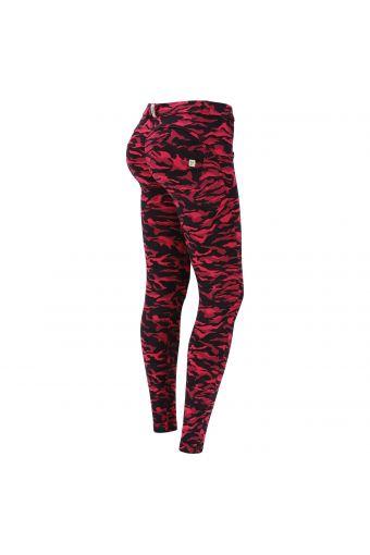 Pantalón push up WR.UP® estampado camuflaje flúor