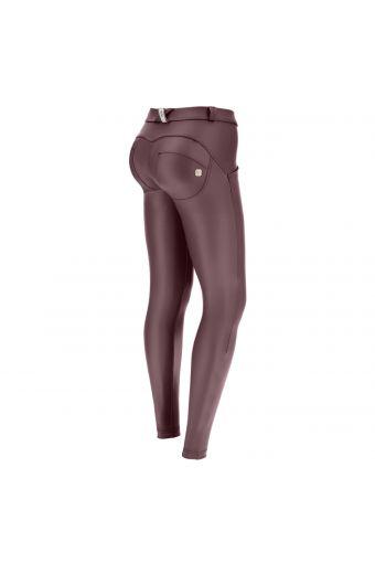 Pantalon push up WR.UP® en simili cuir noir