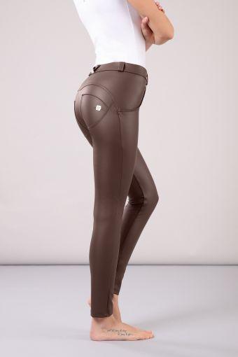 Pantalon WR.UP® skinny à taille et longueur classiques simili-cuir