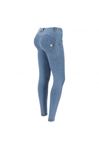 WR.UP® shaping trousers in environmentally-friendly light denim-effect fabric