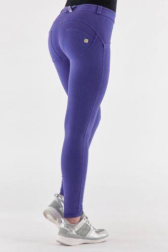 Pantaloni push up WR.UP® skinny in jersey colorato