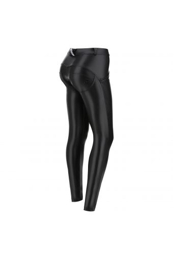 Vinyl-effect faux leather WR.UP® shaping trousers