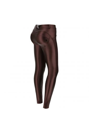 Metallic faux leather WR.UP® shaping trousers