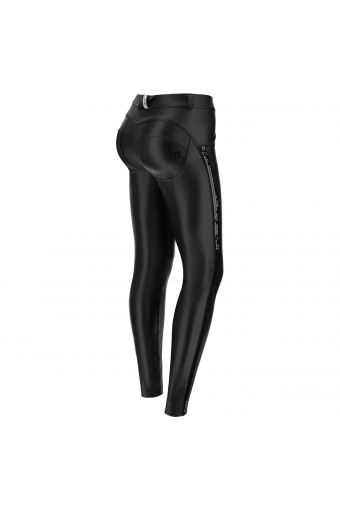 Women's faux leather WR.UP® skinny trousers with sequins