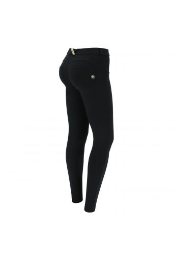 Regular waist WR.UP® shaping trousers with black and gold details