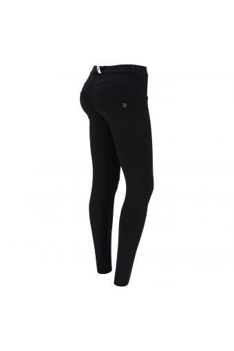 Pantalon skinny push-up WR.UP® en jacquard noir effet crocodile