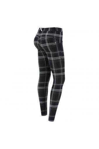 Pantalon push up WR.UP® jacquard à motif écossais