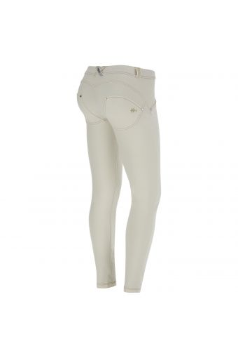 WR.UP® Skinny Regular Rise with overdye treatment on front and rips