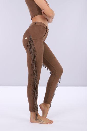 Pantalon push-up WR.UP® effet daim avec franges