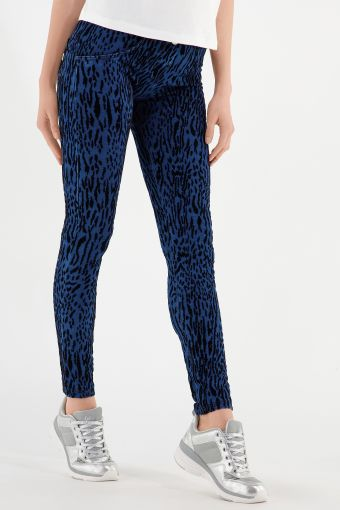 WR.UP® shaping jeans in flocked animal print denim