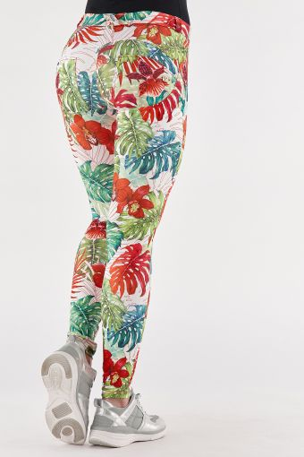 WR.UP® trousers in breathable tropical print fabric