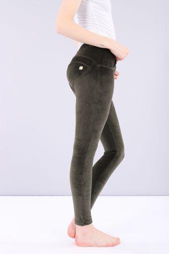 Pantalón largo WR.UP ® pitillo de talle regular en chenilla