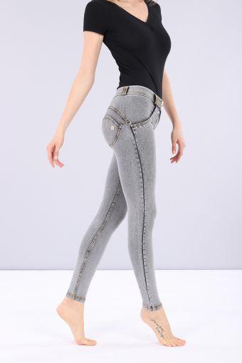 WR.UP® regular-rise super skinny trousers in light jersey denim